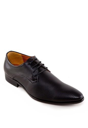 暗esprit官網紋繫帶皮鞋, 鞋, 皮鞋