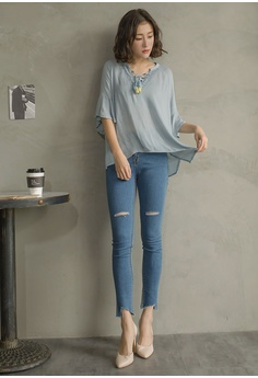 ec35acb458e 65% OFF Tokichoi V-Neck Bohemian Embroidered Tassel Tie Flare Sleeve Top RM  169.00 NOW RM 58.90 Sizes S M