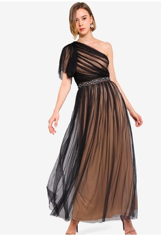 60d45b68fab48 17% OFF Lace & Beads Tulle Maxi Dress S$ 135.90 NOW S$ 112.90 Sizes S M L