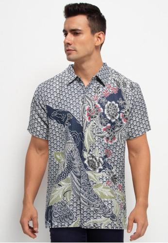 bhatara batik navy Khairul Shirt 68396AA64EADA0GS_1