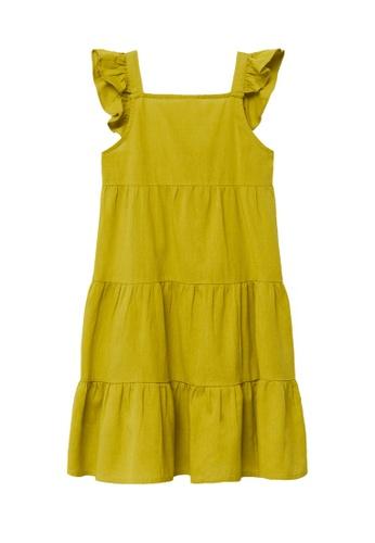 MANGO KIDS yellow Linen-Cotton Dress 010A7KA8D84EDCGS_1
