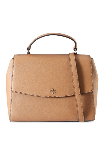 Tory Burch brown Emerson Structured Satchel Bag (NT) 16BF8ACD2E2D80GS_1