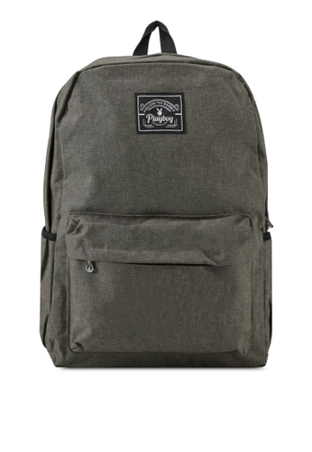 Playboy green Playboy Casual Backpack PL371AC0SK0DMY_1