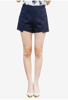 Angled Hem Shorts