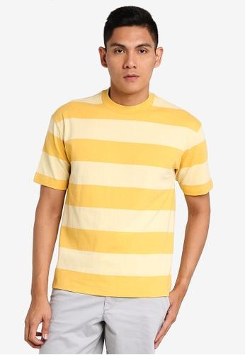 GAP yellow Easy Stripe T-Shirt A9687AAC1CE6DBGS_1