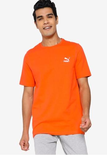 PUMA orange Classic Embroidery Tee 4D8E5AABABAEC4GS_1
