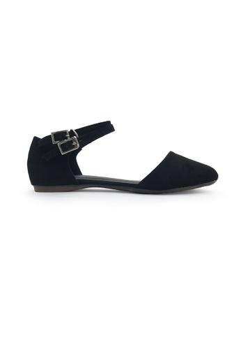 SHINE black Double Strap Ballerinas SH554SH0GEPDSG_1