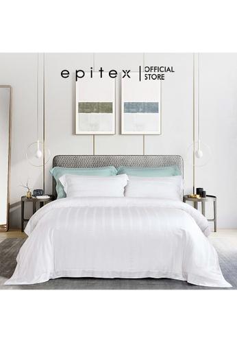 Epitex white Epitex XH5809 Tencel 1000TC Printed Bedsheet - Fitted Sheet Set - Bedding Set (w/o quilt cover) - White 89183HLFAFA759GS_1