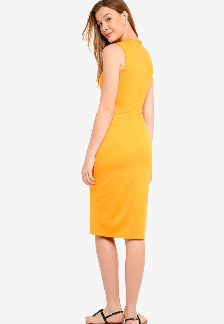 ZALORA Mustard BASICS Dress Bodycon Basic wqvxEHIvO