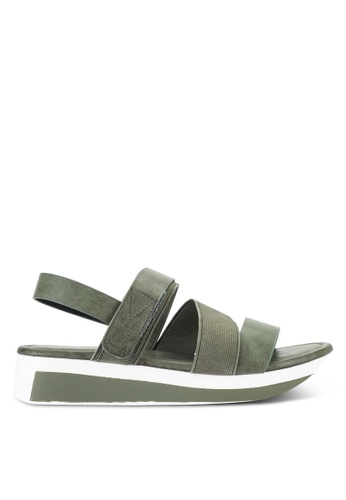 Nose green Casual Strappy Wedge Sandals NO327SH51IJKMY_1