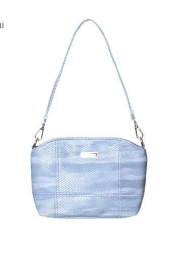 Verchini blue Verchini Embellished Zip Shoulder Bag 4E728AC4363054GS_1