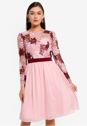 CHI CHI LONDON pink Sutton Dress 46360AABBADF7AGS_1