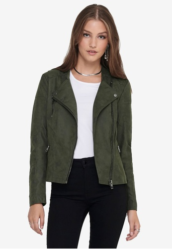 ONLY green Ava Faux Leather Biker Jacket 50D49AA374E790GS_1