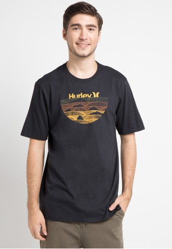 hurley black and orange Cre One & Only Sets Short Sleeve T-Shirt 2DDE4AA38E9746GS_1