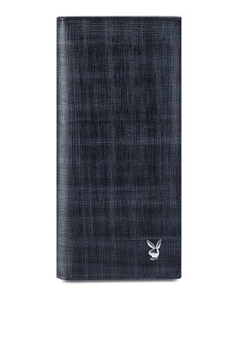 Playboy grey Rfid Blocking Bi-Fold Long Wallet 89812AC0E04439GS_1