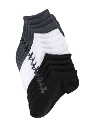 Under Armour black UA Boy's Essentials No Show Socks 3F518KCDBD60BBGS_1