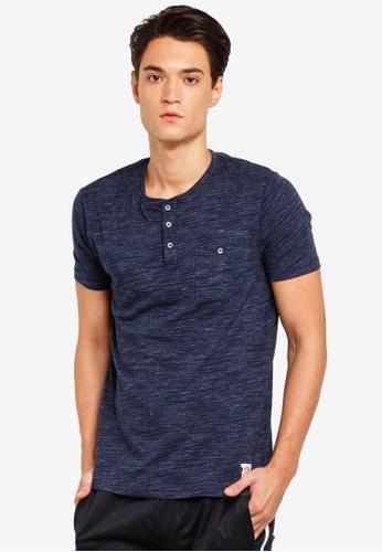 Brave Soul 海軍藍色 短袖口袋T恤 9B77DAA2250E75GS_1