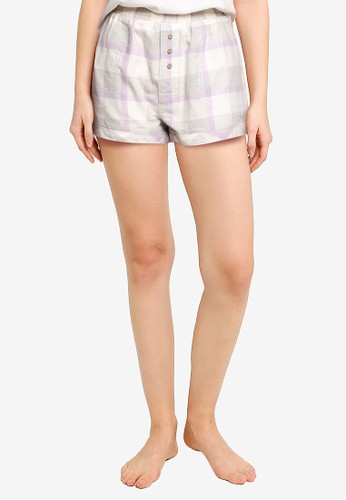Cotton On Body multi Warm Flannel Sleep Short 6CFFBAACF7961EGS_1