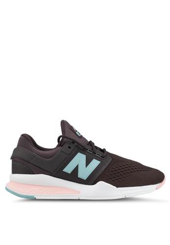 New Balance 黑色 and 粉紅色 247 Lifestyle Shoes 96146SHA9C2D93GS_1