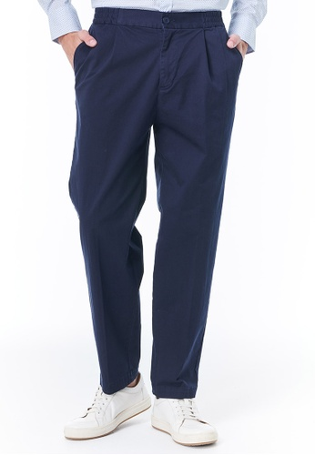 United Colors of Benetton navy Chinos with Elastic Waist EFEB3AA768E77EGS_1