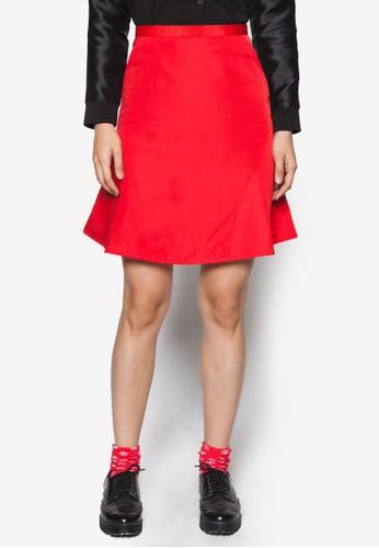 簡約傘擺短裙,esprit outlet hk 服飾, 服飾