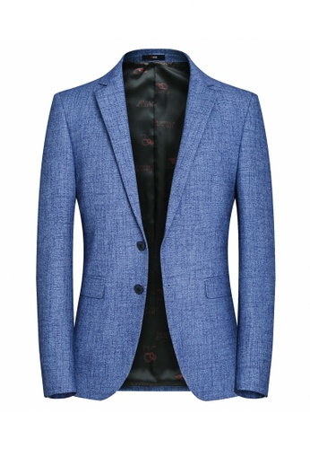HAPPY FRIDAYS Slim Casual Textured Suit Jacket 8107 E1F05AAD10DD5FGS_1