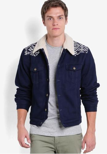 Wrung 藍色 拼接長袖外套裝 WR395AA46PCRMY_1