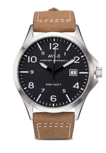 Hawker Harrier Iesprit hk outletI 皮革大圓錶, 錶類, 其它錶帶