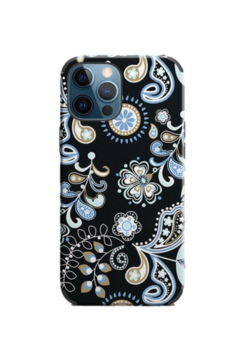 Kings Collection black Floral Pattern iPhone 12 Pro / 12 Case (KCMCL2406) CEA43AC4AD30C1GS_1