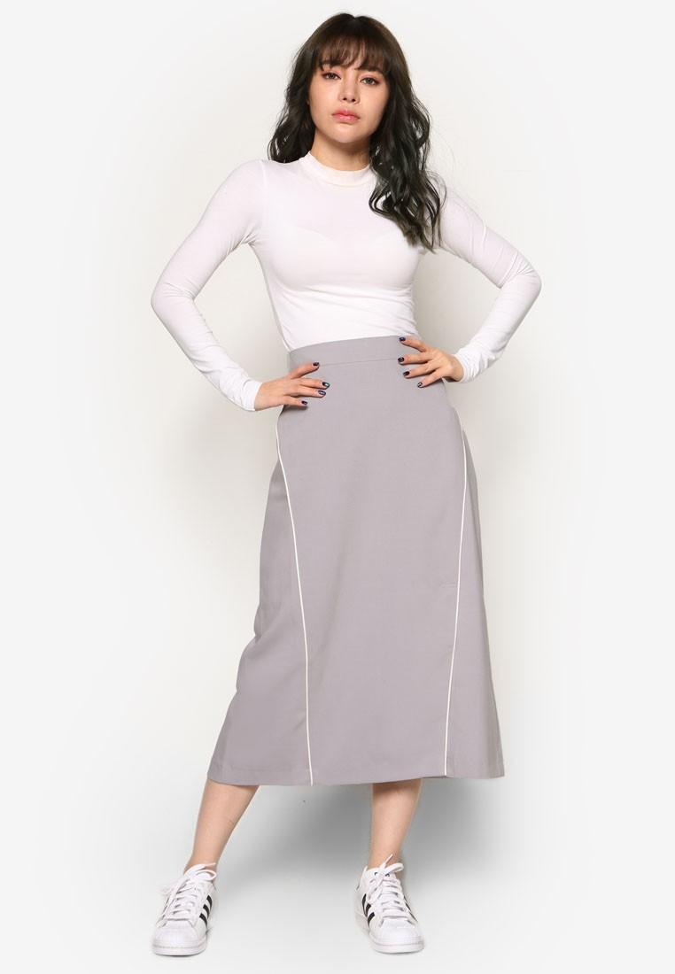 Korean Fashion Double Line Skirt