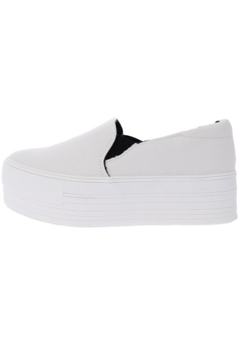 Maxstar C7 50 Synthetic Cotton White Platform Slip on Sneakers US Women Size MA168SH58DIRHK_1