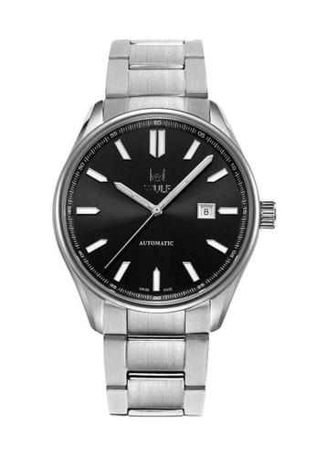 Wulf silver Wulf Alpha-X Silver with Black Dial Watch 48E10AC2F451E7GS_1