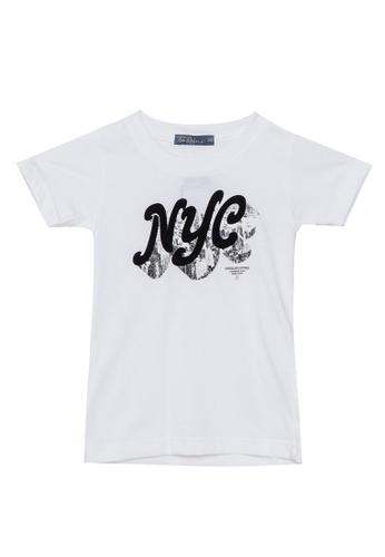 BOSSINI KIDS white Round Neck T-Shirt BD31AKA0FBD295GS_1