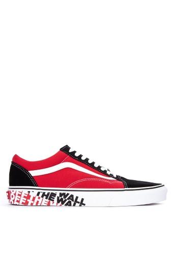 VANS red and multi OTW Sidewall Old Skool Sneakers E727ASH2D7D087GS_1
