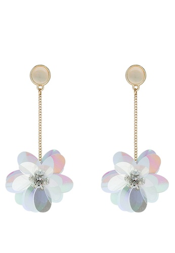 Mellow white Psychedelic Flower Earrings 3518CAC3144FC9GS_1