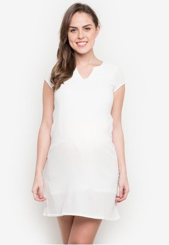 BUNTIS white Evelyn Maternity Dress BU698AA0JX8ZPH_1