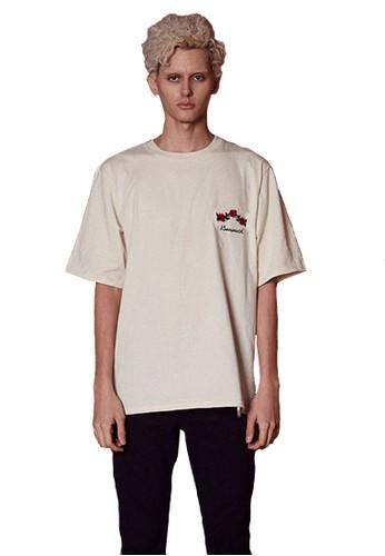 1esprit outlet 台中7SS HolicMonth白色T恤, 服飾, 上衣