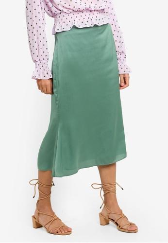 Glamorous green Satin Midi Skirt FF25CAA45A4C45GS_1