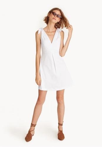 54b875e047 Buy Pomelo A-Line Bow Tie Mini Dress Online on ZALORA Singapore