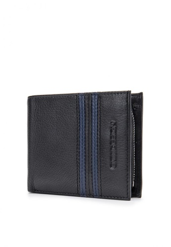 ENZODESIGN black Top Grain Leather Wallet with Zip Coin Compartment EN115AC07ZWAPH_1