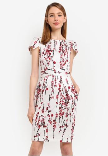 CLOSET multi Pleated Tulip Dress B25EAAA3C8FC70GS_1