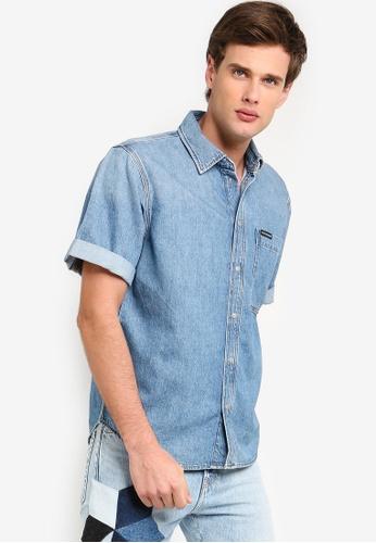 a5b8ba57cd Calvin Klein blue Short Sleeve Utility Shirt - Calvin Klein Jeans  B7D18AAC39C896GS_1