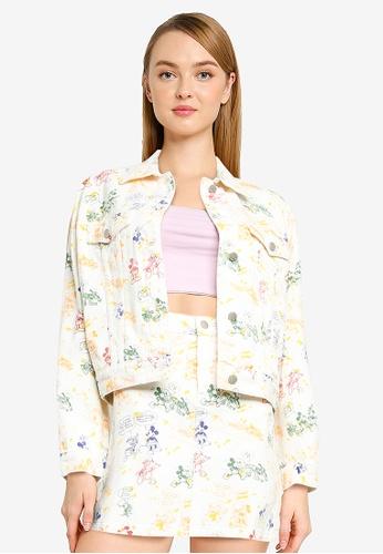 Urban Revivo beige Print Jacket 1B1EDAACC57F4EGS_1