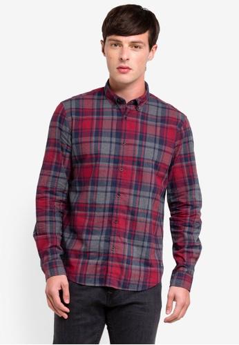 ESPRIT 紅色 長袖襯衫 57FFDAA8FDA109GS_1
