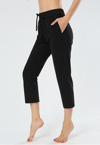 B-Code black ZYG3090-Lady Quick Drying Running Fitness Yoga Sports Leggings -Black E113DAA9049128GS_1