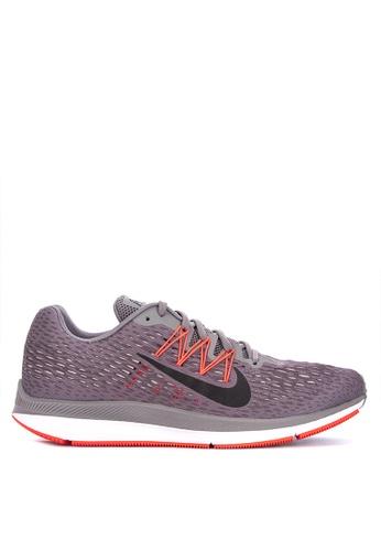 Nike grey Men's Nike Air Zoom Winflo 5 Running Shoes D9336SHFD2BC95GS_1