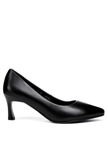 Twenty Eight Shoes 黑色 6CM真皮製服工作高踭鞋392ZC FA609SH443B863GS_1