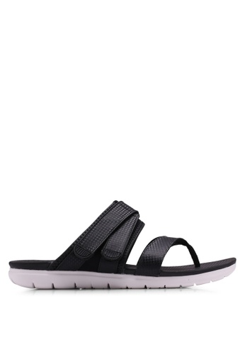 784de7ccf2b94 FitFlop black Neoflex Toe-Thong Sandals 9E9F9SH28BF5DCGS 1