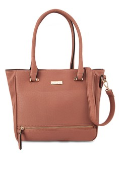 Unisa Saffiao Texture Convertible Tote Bag