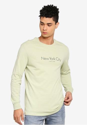 Cotton On green Tbar Long Sleeve T-Shirt 55977AA1FB7F00GS_1